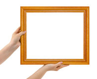 Frame in hands Stock Photo