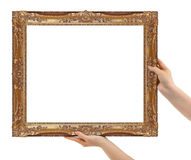 Frame in hands Royalty Free Stock Photography