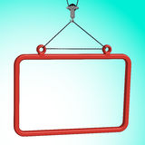 Frame hanged Stock Image