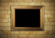 Frame hanging on brick wall Royalty Free Stock Image