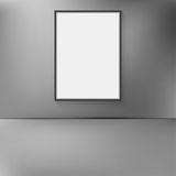 Frame hanging on the wall with abstract blurred background. Royalty Free Stock Photo