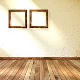 Frame hanging on wall interior template. EPS 10 Royalty Free Stock Photo
