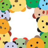 Frame with happy bears. Frame photo with happy bears royalty free illustration