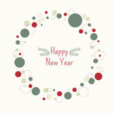 Frame Happy New Year. Vector background with Christmas trees and Christmas decorations Stock Image