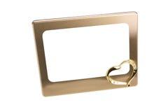 Frame, hartvorm die op wit wordt geïsoleerdz Stock Fotografie