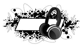 Frame with headphones Royalty Free Stock Image