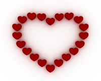 Frame heart Royalty Free Stock Images