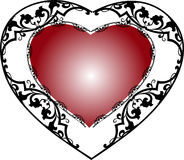 Frame with heart  Stock Image
