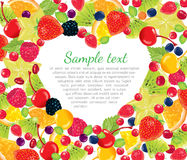 Frame heart with berries Royalty Free Stock Image
