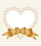 Frame of heart with bow Stock Photo