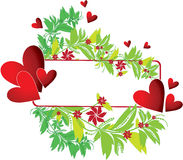 Frame with heart and flower Stock Photo