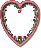 Frame heart flowers Royalty Free Stock Photo