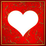 Frame heart Royalty Free Stock Photo