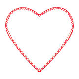 Frame heart the little hearts of red color on a Royalty Free Stock Photo