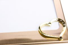 Frame, heart shape isolated on white. Background stock images