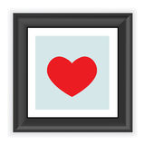 Frame with heart shape isolated on white Stock Photos