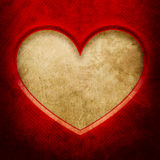 Frame in heart shape from red paper Royalty Free Stock Photo