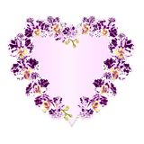 Frame Heart shaped orchids Phalaenopsis spotted purple and white  flowers tropical plants  vintage vector botanical illustration f Royalty Free Stock Image