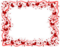 Frame with hearts Stock Photo