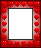 Frame with hearts Royalty Free Stock Photography