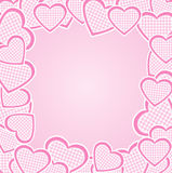 Frame with hearts Royalty Free Stock Photo
