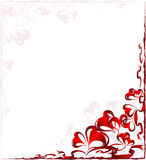 Frame with hearts Royalty Free Stock Photos