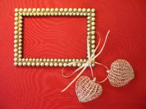 frame and hearts Royalty Free Stock Photo