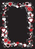 Frame with hearts Stock Photography