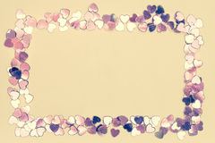 Frame of hearts Royalty Free Stock Photos