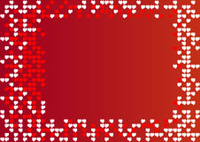 Frame with hearts. Frame with white and red hearts royalty free illustration
