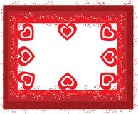 The frame of hearts Royalty Free Stock Photography