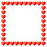 Frame from hearts Royalty Free Stock Images