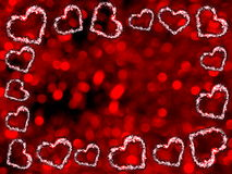 Frame of hearts Royalty Free Stock Image