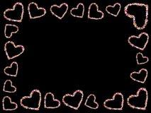 Frame of hearts Stock Photos