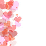 Frame from hearts in various positions Royalty Free Stock Image