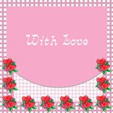 Frame with hearts - vector image Stock Photography