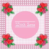 Frame with hearts - vector image Royalty Free Stock Photos
