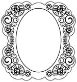 Frame with helices Royalty Free Stock Photography
