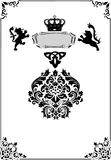 Frame with heraldic elements on white Royalty Free Stock Photo