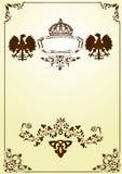 Frame heráldico de Brown com águias Fotografia de Stock Royalty Free