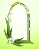 Frame with hibiscus flower, cdr vector Royalty Free Stock Image