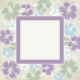 Frame of hibiscus, vector Royalty Free Stock Photo