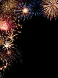 Frame holiday fireworks Royalty Free Stock Photos