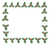 Frame of holly Stock Photography