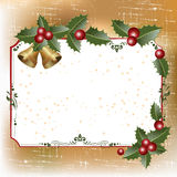Frame with holly Stock Photography