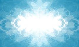 Frame horizontal azul ilustração do vetor