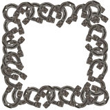 Frame of horseshoes Royalty Free Stock Photos