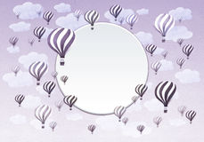 Frame of Hot air balloons. Royalty Free Stock Image