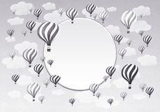 Frame of Hot air balloons. Stock Photo