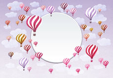 Frame of Hot air balloons. Stock Images